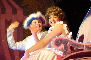 Cinderella and Prince Charming in the magical coach